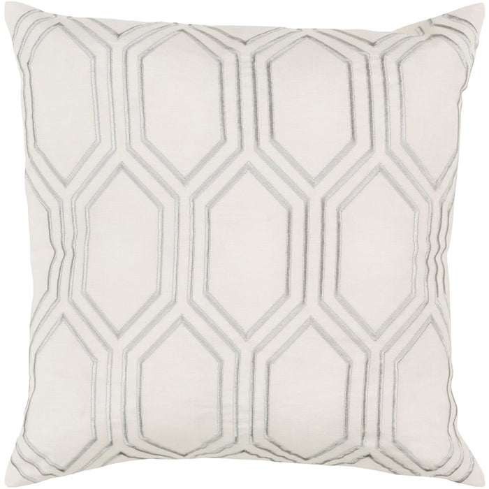 Skyline by Surya Pillow, Beige/Medium Gray