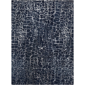 Surya Banshee Area Rug, Navy/Denim