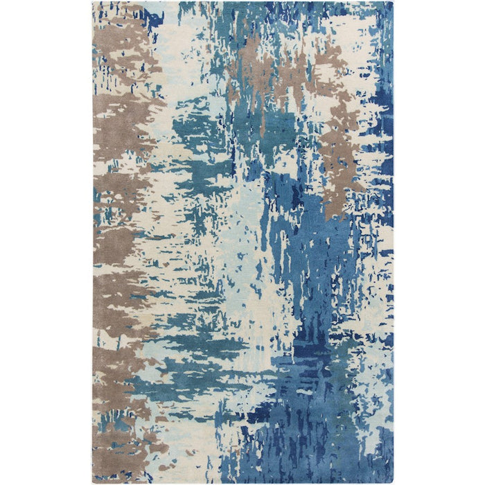 Surya Banshee Area Rug, Dark Blue/Bright Blue
