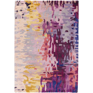Surya Banshee Area Rug, Dark Purple/Lime
