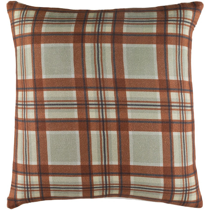 Brigadoon by Surya Pillow, Moss/Khaki/Mint