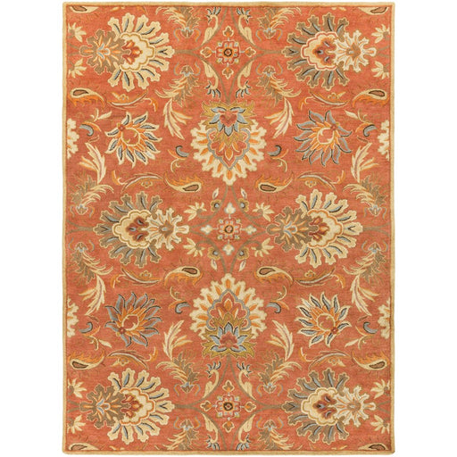 Surya CAE-1112 Caesar Runner, 3' x 12', Camel/Burnt Orange