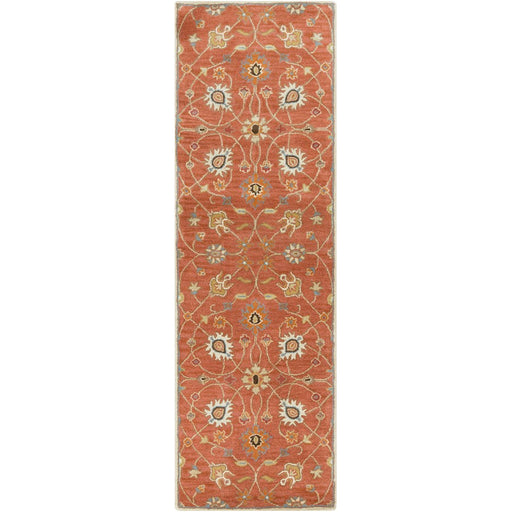 Surya CAE-1119 Caesar Runner, 2'6' x 8', Camel/Burnt Orange