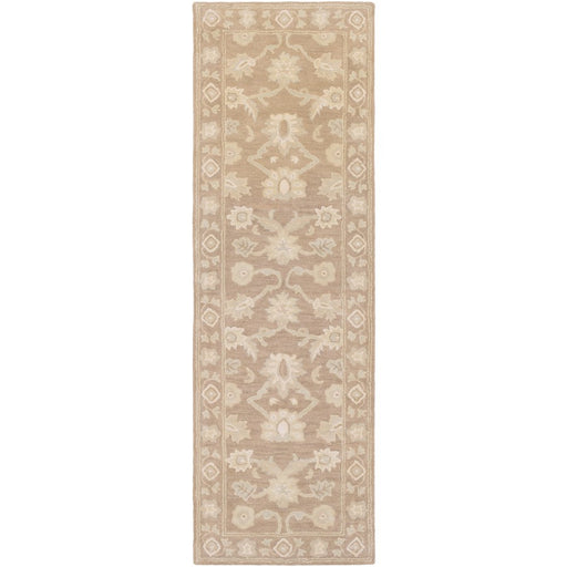 Surya CAE-1181 Caesar Runner, 2'6' x 8', Ivory/Dark Brown