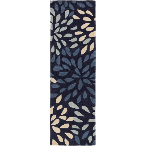 Surya COS-9265 Cosmopolitan Runner, 2'6' x 8', Navy/Dark Blue