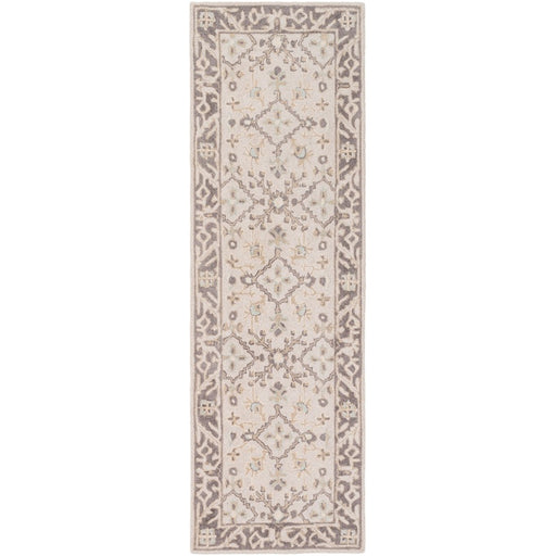 Surya CTL-2000 Castille Runner, 2'6' x 8', Taupe/Charcoal