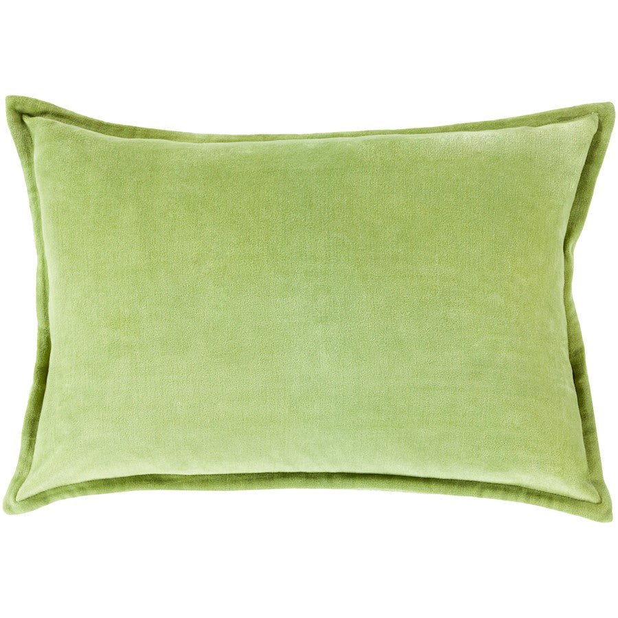 "Cotton Velvet by Surya Pillow, Olive, 13"" x 19"""