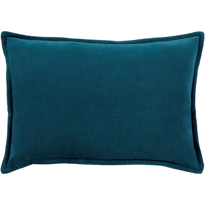 "Cotton Velvet by Surya Pillow, Teal, 13"" x 19"""