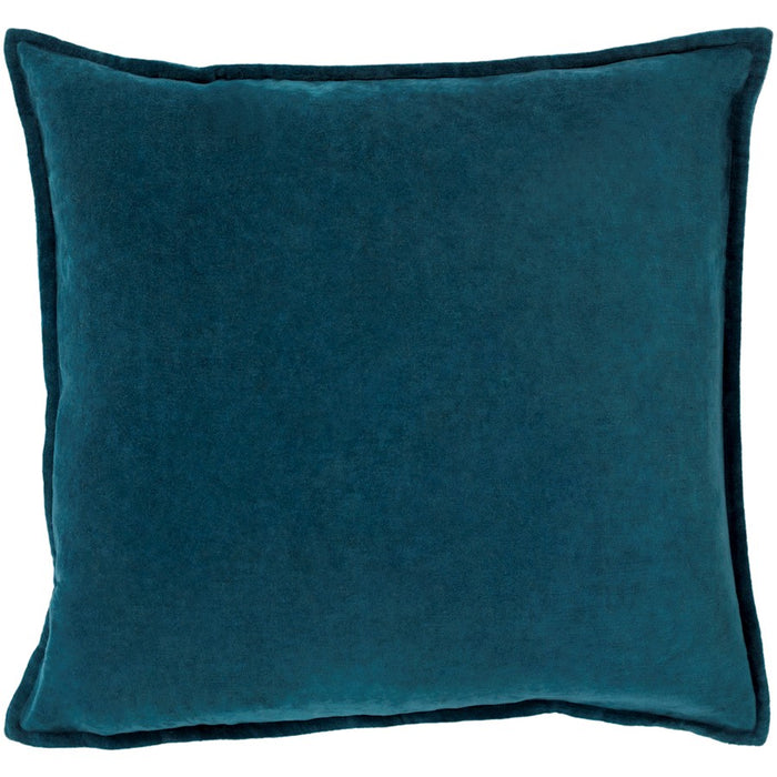 Cotton Velvet by Surya Pillow, Teal
