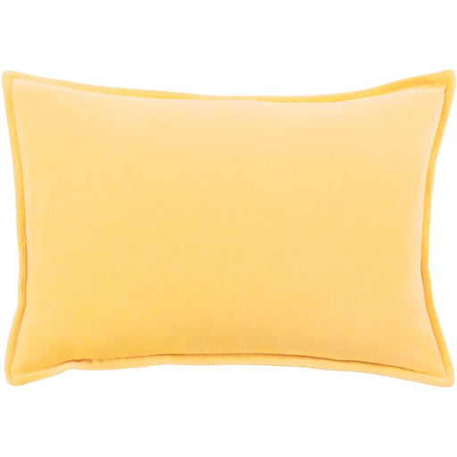 "Cotton Velvet by Surya Pillow, Bright Yellow, 13"" x 19"""
