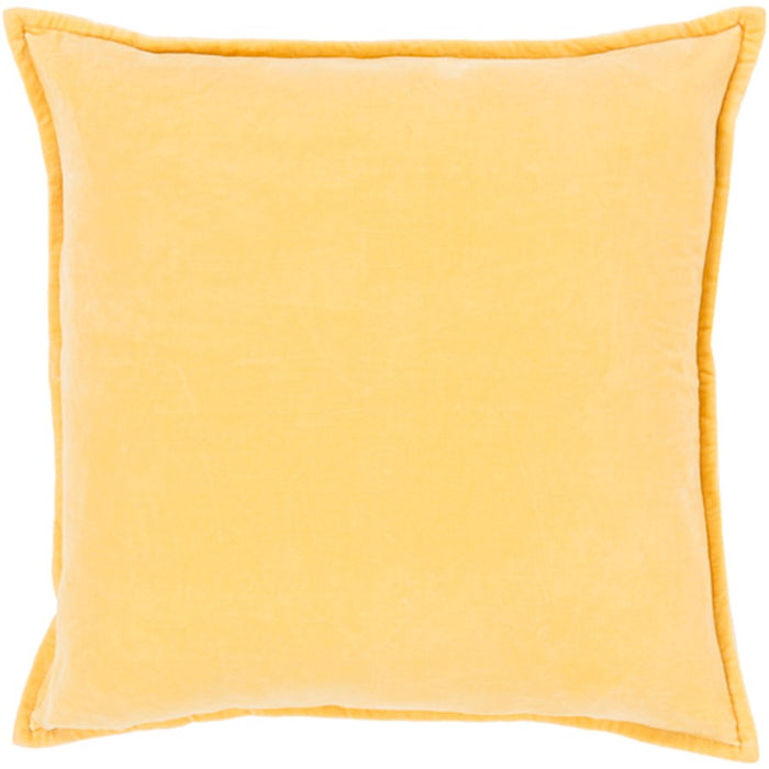 Cotton Velvet by Surya Pillow, Bright Yellow
