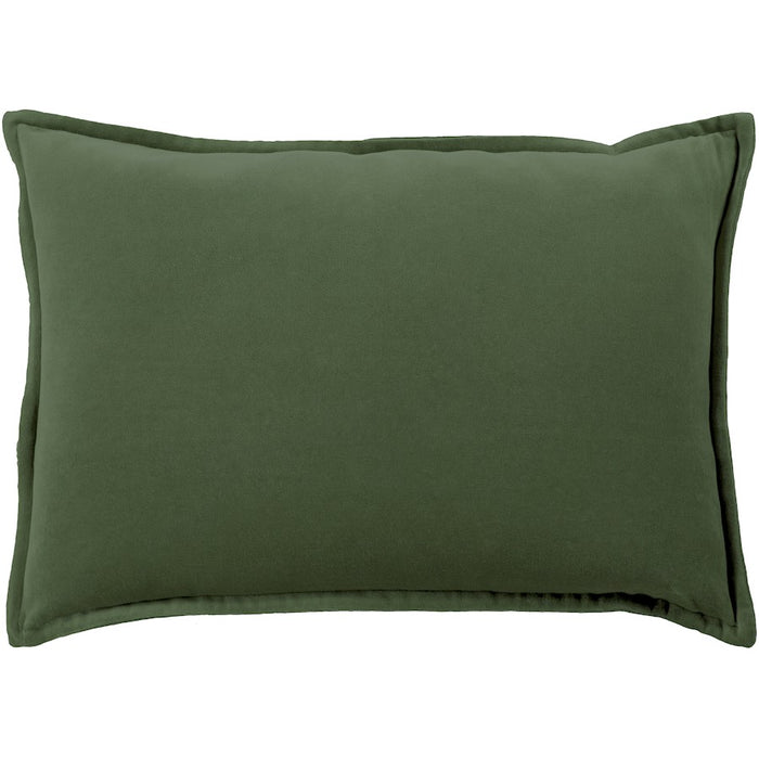 "Cotton Velvet by Surya Pillow, Dark Green, 13"" x 19"""