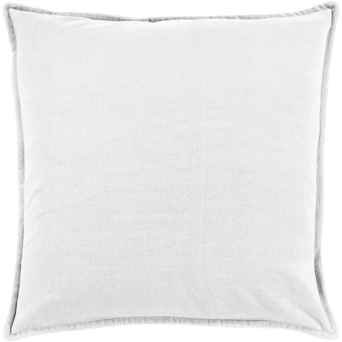 "Cotton Velvet by Surya Pillow, Medium Gray, 18"" Square"