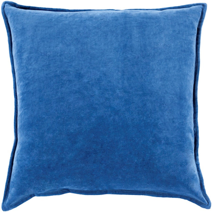 Cotton Velvet by Surya Pillow, Dark Blue