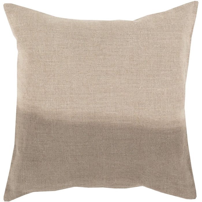 Dip Dyed by Surya Pillow, Khaki/Taupe