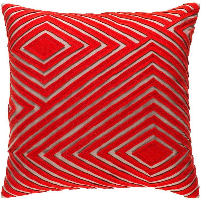 Denmark by Surya Pillow, Camel/Bright Orange