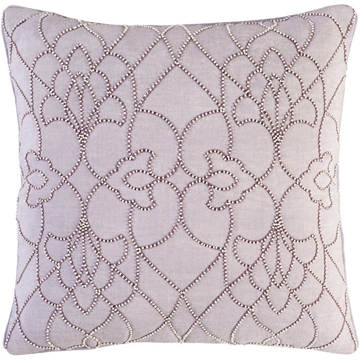 Dotted Pirouette by C. Olson for Surya Down Pillow, Lilac