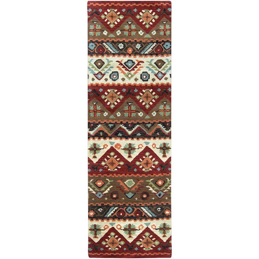 Surya DST-381 Dream Runner, 2'6' x 8', Dark Red/Dark Brown