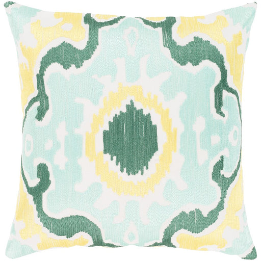 Effulgence by Surya Down Pillow, Mint/Emerald/Butter
