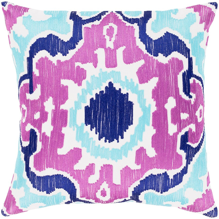 Effulgence by Surya Down Pillow, Purple/Violet/Aqua