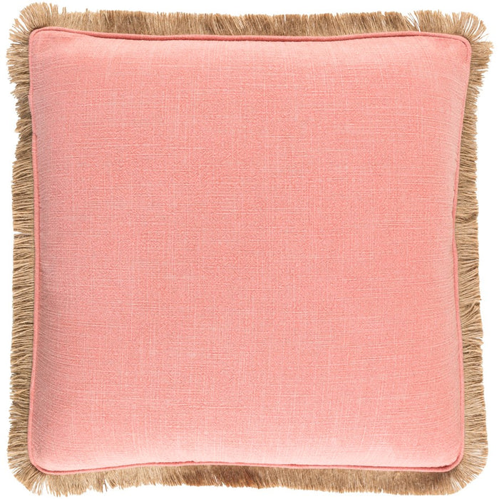 Ellery by Surya Pillow, Coral/Tan
