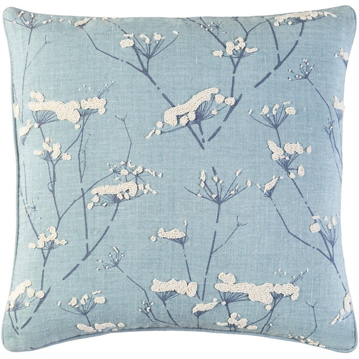 Enchanted by C. Olson for Surya Down Pillow, Blue