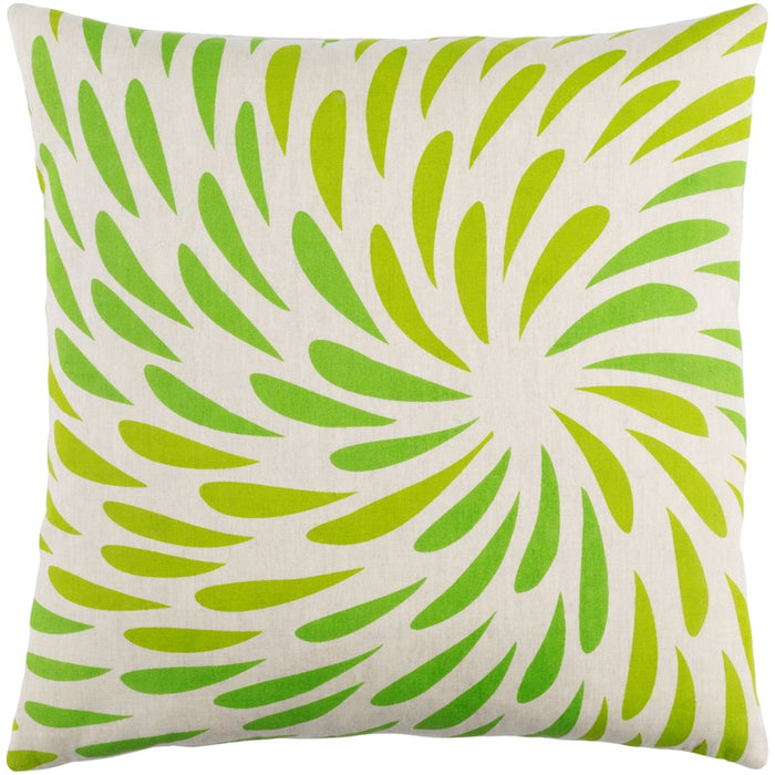 Eye of Storm by E. Gardner Down Pillow, Grass/Lime/Khaki
