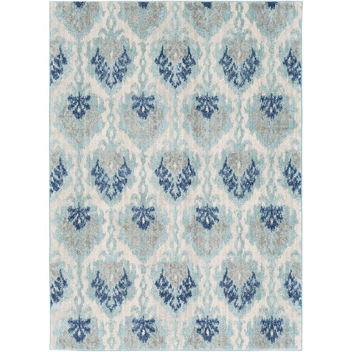 Surya HAP-1012 Harput Runner, 2' 7' x 7' 3', Teal/Light Gray