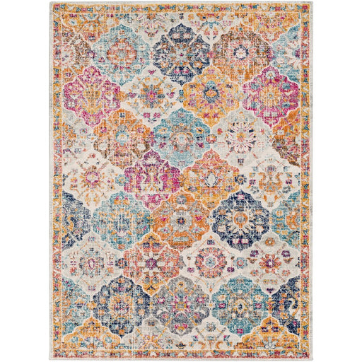 Surya HAP-1018 Harput Runner, 2' 7' x 7' 3', Saffron/Burnt Orange