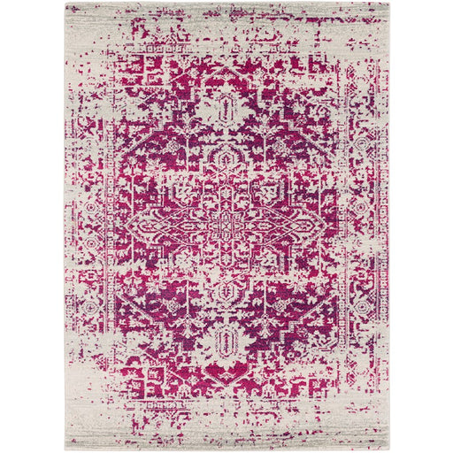 Surya HAP-1020 Harput Runner, 2' 7' x 7' 3', Garnet/Light Gray
