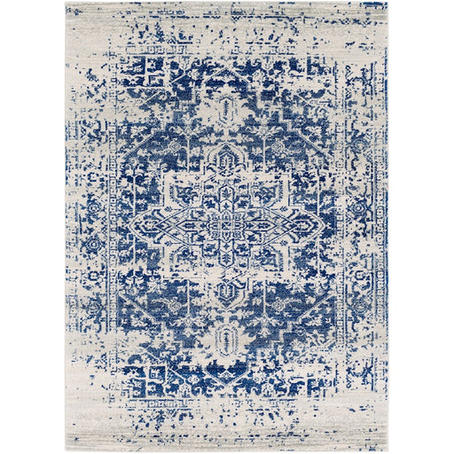 Surya HAP-1021 Harput Runner, 2' 7' x 7' 3', Light Gray/Dark Blue