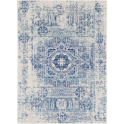 Surya HAP-1025 Harput Runner, 2' 7' x 7' 3', Dark Blue/Light Gray