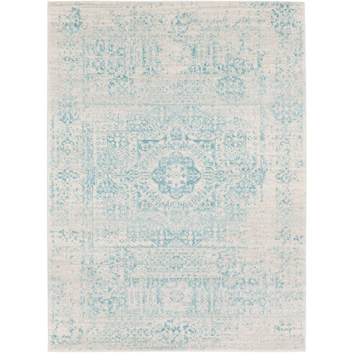 Surya HAP-1026 Harput Runner, 2' 7' x 7' 3', Teal/Light Gray
