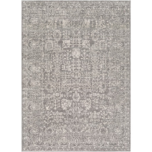 Surya HAP-1029 Harput Runner, 2' 7' x 7' 3', Black/Light Gray