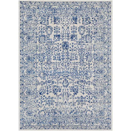Surya HAP-1030 Harput Runner, 2' 7' x 7' 3', Dark Blue/Light Gray