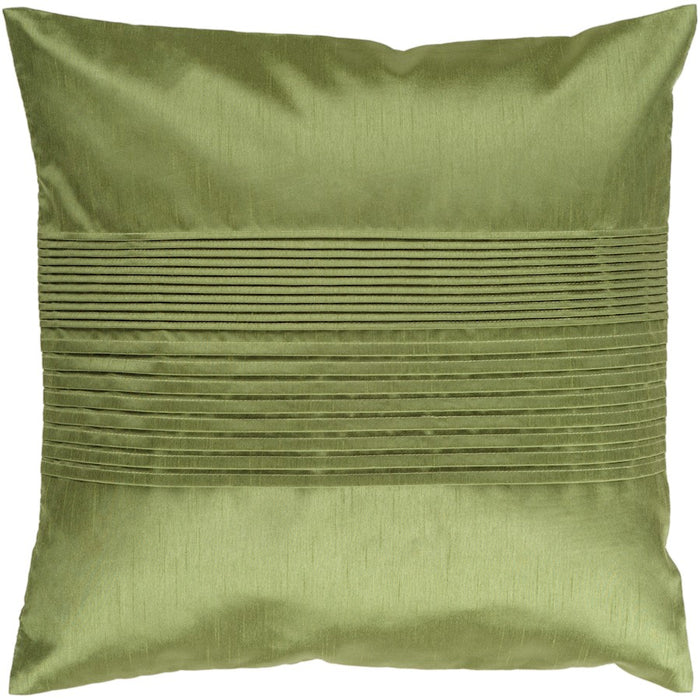 Solid Pleated by Surya Down Fill Pillow, Dark Green