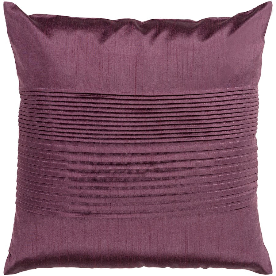 Solid Pleated by Surya Down Fill Pillow, Dark Purple