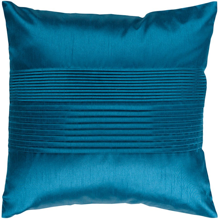 Solid Pleated by Surya Down Fill Pillow, Aqua