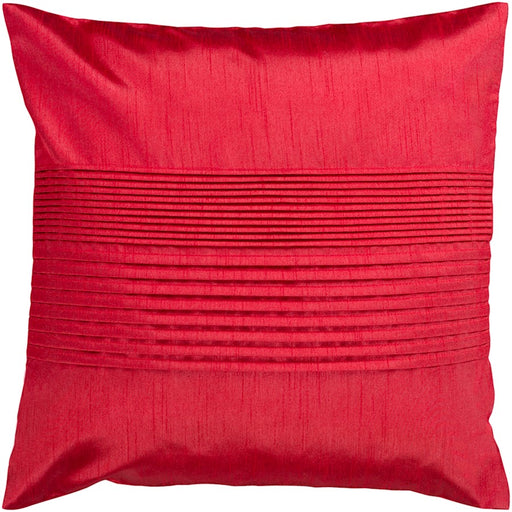 Solid Pleated by Surya Down Fill Pillow, Bright Red