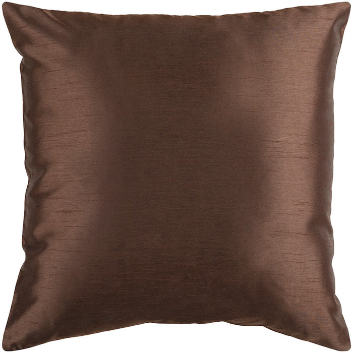 Solid Luxe by Surya Down Fill Pillow, Dark Brown