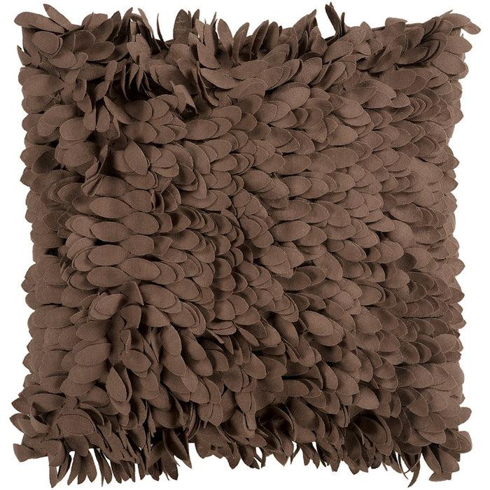 Claire by Surya Down Fill Pillow, Dark Brown