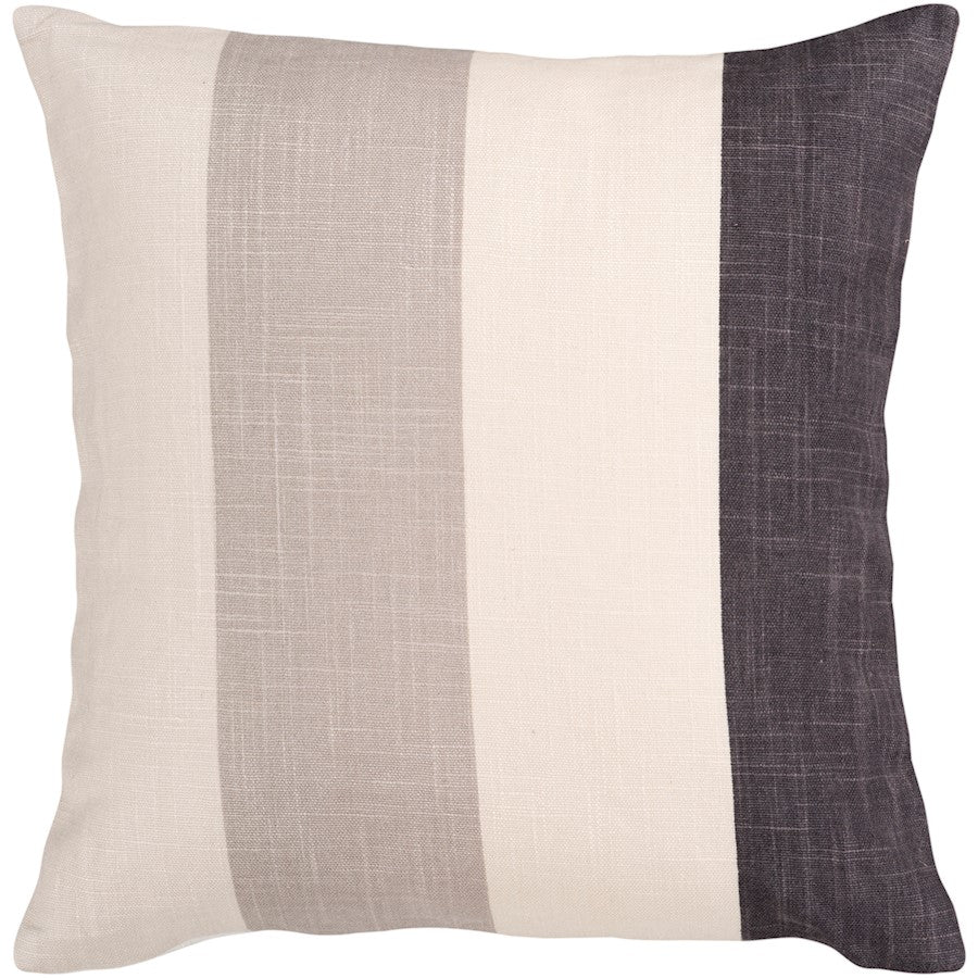 Simple Stripe by Surya Pillow, Cream/Black/Ivory