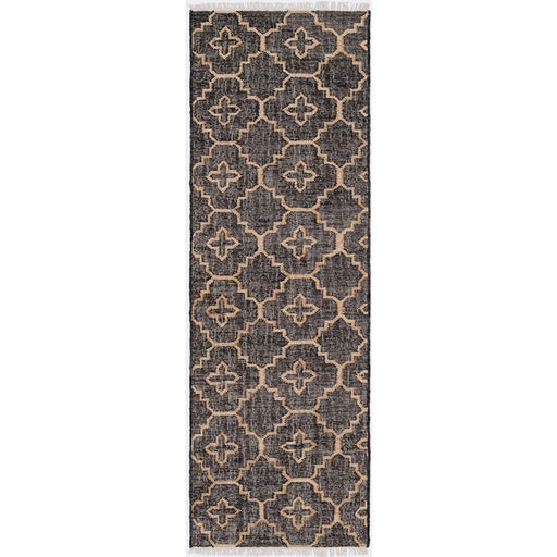 Surya LRL-6013 Laural Runner, 2'6' x 8', Black/Cream