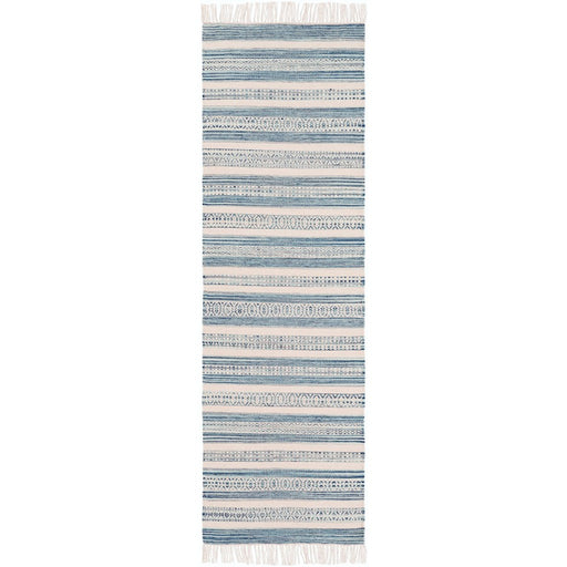 Surya LRY-7001 Lawry Runner, 2'6' x 8', Navy/Pale Blue