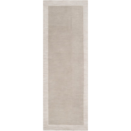 Surya MDS-1001 Madison Square Runner, 2'6' x 8', Light Gray/Ivory