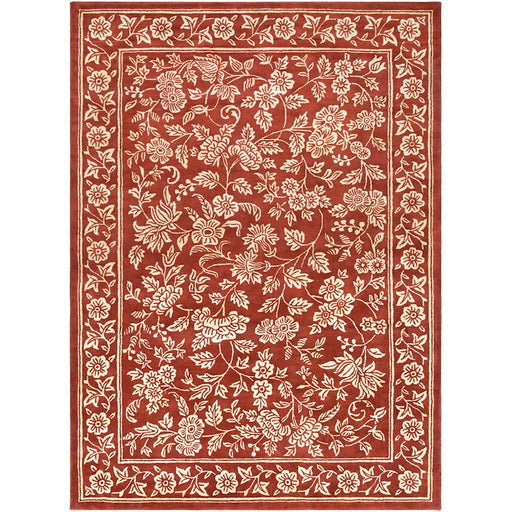 Surya SMI-2163 Smithsonian Runner, 2'6' x 8', Dark Red/Beige