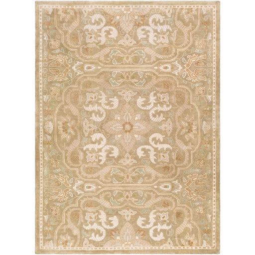Surya SMI-2164 Smithsonian Runner, 2'6' x 8', Tan/Cream