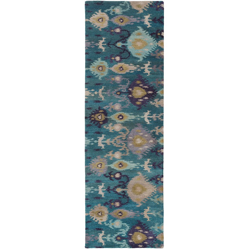 Surya SUR-1017 Surroundings Runner, 2'6' x 8', Rust/Dark Blue