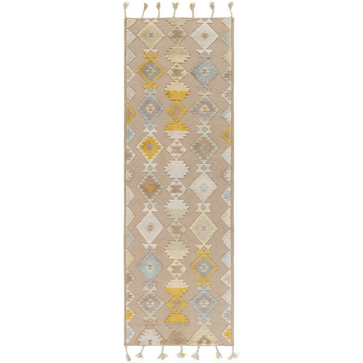 Surya TLL-3000 Tallo Runner, 2'6' x 8', Light Gray/Taupe
