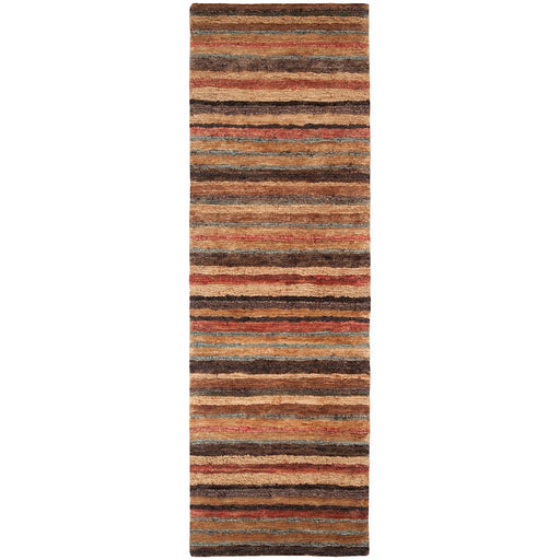 Surya TND-1120 Trinidad Runner, 2'6' x 8', Rust/Dark Brown